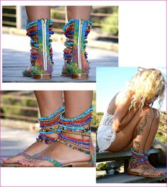 beaded, bohemian sandals :: Like the fronts, don't like the backs- Marilyn