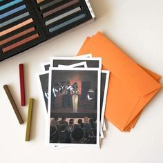 Set of 5 cards of Jazz pub show illustration greeting cards great as music…