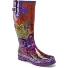 Chooka Hippie Peace Rain Boot