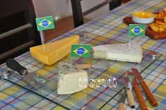 Palitos com bandeirinhas do Brasil Cheese, 98, Food, Bunting Garland, World Cup, Personalized Stationery, Brazil, Soccer, Party