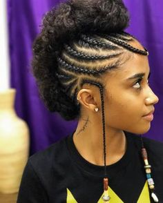 42 Catchy Cornrow Hairstyles Ideas to Try in 2019 - Bored Art # Braids with weave mohawk # Braids with weave mohawk Natural Hair Braids, Braids For Black Hair, Natural Hair Care, Natural Hair Styles, Braided Mohawk Black Hair, My Hairstyle, Box Braids Hairstyles, African Hairstyles, Protective Hairstyles