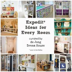 Lounge...study...meals...Expedit Ideas for Every Room