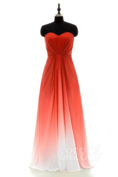 Fiery Red Ombre Bridesmaid Dress LOZF15045 #ombrebridesmaiddresses#bridesmaiddresses #cocomelody #bridesmaid #dresses #customdresses