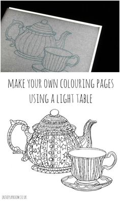 How To Make Your Own Colouring Pages Using A Light Table Use With Zentangle Templates