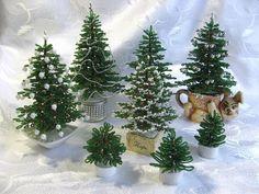 Встали елки в хоровод   biser.info - всё о бисере и бисерном творчестве