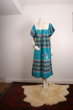 Maxi dress handwoven Guatemala gypsy hand by sparrowlyn on Etsy, $48.00