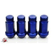 PWALN-NEC20-BLU: Password:JDM Aluminum Lug Nuts (Extended Close End) 12 x 1.25 [20 PIECE] [BLUE]