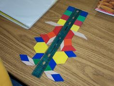 hands on symmetry with pattern blocks