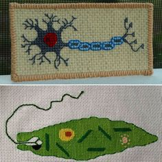 Cross-Stitch Pattern: Brain Cell (for Mom)