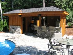 1000 images about pool sheds on pinterest pool shed for Pool shed with bar plans