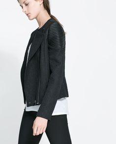 BIKER JACKET WITH ZIPS from Zara $119