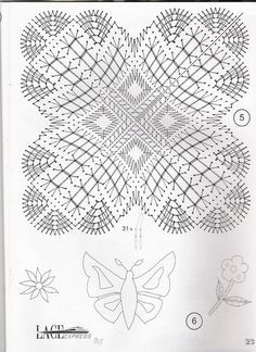 "Photo from album ""Burda special on Yandex. Bobbin Lace Patterns, Bead Loom Patterns, Knitting Patterns, Crochet Patterns, Crochet Diagram, Crochet Chart, Crochet Motif, Crochet Edgings, Filet Crochet"