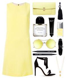"""Yellow & Black"" by nmkratz ❤ liked on Polyvore featuring Dolce&Gabbana, Dorothy Perkins, Alexandre Birman, Byredo, Oscar de la Renta, Karl Lagerfeld, Gentle Monster, Bobbi Brown Cosmetics and Jennifer Zeuner"
