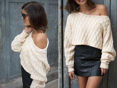 DIY cropped knit