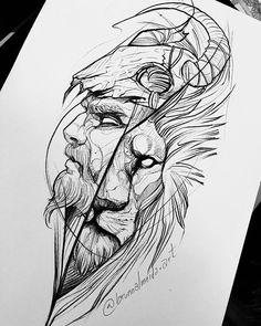 Lion Tattoo Design, Tattoo Design Drawings, Tattoo Sketches, Sketch Style Tattoos, Viking Warrior Tattoos, Warrior Tattoo Sleeve, Armor Tattoo, Tattoo Guerreiro, Phenix Tattoo