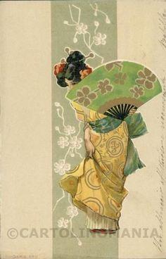Art Nouveau Raphael Kirchner cartolina postcard RK0514