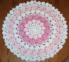 Fox's Flower Petal Yarn Doily by Donna Mason-Svara  $3.75 USD