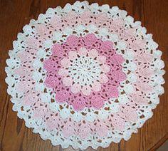 Fox's Flower Petal Yarn Doily by Donna Mason-Svara  $3.75 USD