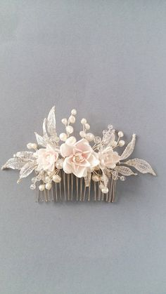This item is unavailable : Blush flowers Bridal hair piece, Fresh water pearls Bridal hair comb, Bridal hairpiece, Wedding hair piece, Wedding head piece Bridal Comb, Bridal Headpieces, Blush Bridal, Hair Jewelry, Bridal Jewelry, Bridal Hair Flowers, Blush Flowers, Silk Flowers, Wedding Hair Pins