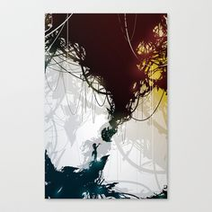 Cake Stretched Canvas by Justin Currie - $85.00