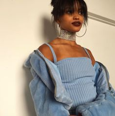 how to style outfits Blue Fashion, Look Fashion, Fashion Outfits, Womens Fashion, Aesthetic Fashion, Aesthetic Clothes, Style Bleu, Looks Style, My Style