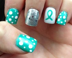 My Ovarian Cancer Nails In Honor Of Mom Awareness