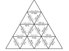 Fotka: Jednotky délky – puzzle Puzzle na převody jednotek délky pro procvičování či opakování. Vhodné pro individuální práci či práci ve dvojici. #rvpcz http://dum.rvp.cz/materialy/jednotky-delky-puzzle.html