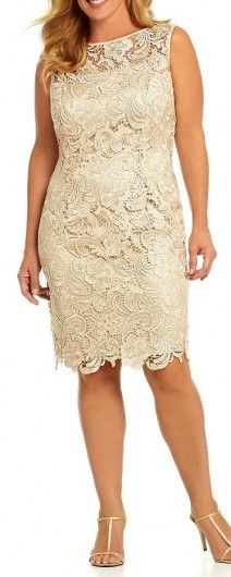 Adrianna Papell Shimmer Shift Dress And Matching Lace Coat