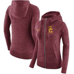 USC Trojans Nike Women's Gym Vintage Full-Zip Hoodie - Cardinal