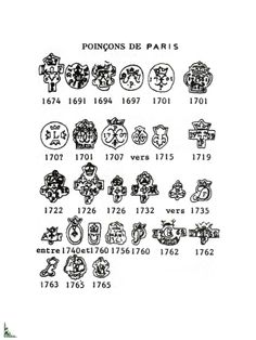 French Tin hallmarks and marks Pottery Marks, Antique Glassware, Metal Detecting, Old Coins, Antique Pewter, Vintage China, Makers Mark, Give It To Me, Jewellery