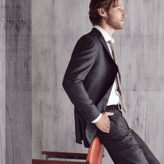 Conquer the work day in a two-button suit.