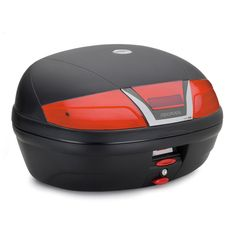 K46 Top-case, capacity 46 ltrs, with red reflectors. Universal plate K628 included. Black colour