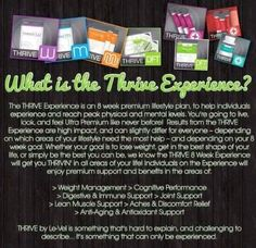 What is Thrive? + All Natural, Plant Based Nutrition + Weight Management + Clean All Day Energy + Relief from Aches and Discomforts + Mental Clarity + Focus + Digestive and Immune Support + Enhanced Sleep What are people saying about Thrive? https://youtu.be/RSORhx7qKSk   Hard to describe, best if experienced. Thrivin941.le-vel.com watch short video  ☝Sign up FREE as a customer or promoter Wanna know more? Email   ThriveinFL@gmail.com  #supplements #DFT #nutrition #energy #happy #amazing #