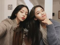 she so pretty with long hair too! Ulzzang Girl Fashion, Ulzzang Korean Girl, Cute Korean Girl, Ulzzang Couple, Asian Girl, Kore Ulzzang, Best Friends Aesthetic, Best Friend Couples, Korean Best Friends