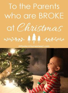 To the Parents Who are Broke at Christmas