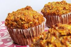 Apple-pumpkin Spice Oat Muffins....switch out flour for whole wheat, honey nstead of turbinado, coconut oil or apple sauce for oil
