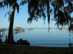 The St Johns River- Palatka, FL.  This is 2 blocks from my house.