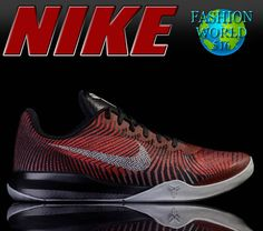NIKE Kobe Mentality II 818952 002 Men's Basketball - Black Silver Red - Size 14 #NIKE #BasketballShoes