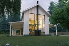 Awesome Modern Look Metal Farmhouse (HQ Plans & Pictures)   Metal Building Homes