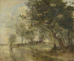 Jean-Baptiste-Camille Corot: A Flood, 1970-75