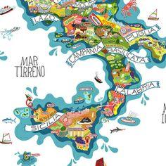 beautiful maps // Image of Incomparabili Vini Italiani
