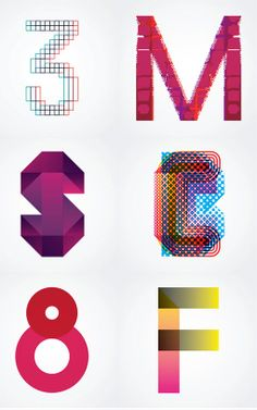 Creative alphabets from Montreal-based design studio FEED. #Alphabets #Magenta #illustratedtype