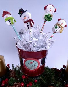 Decoración con masmelos Christmas Themed Cake, Christmas Pops, Christmas Goodies, Christmas Candy, Christmas Treats, Christmas Baking, Kids Christmas, Christmas Sugar Cookies, Holiday Cookies