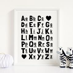 Alphabet Printable Art, ABC Poster, Nursery Decor, Kids Educational Printable Wall Decor, ABC Chart, Playroom Decor *Instant Download* Playroom Decor, Nursery Wall Decor, Nursery Prints, Wall Prints, Abc Poster, Kids Poster, Posters, Kids Room Art, Art Wall Kids