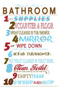 1000 images about courtesy cleaning signs on pinterest - What do i need to clean my bathroom ...
