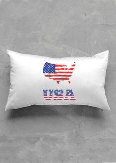 Accent Pillow - Luster Oblong - United States Of America in Blue/Purple/Red by VIDA Original Artist Vida Design, Accent Pillows, Oil On Canvas, Purple, Blue, Street Art, Pillow Covers, Original Art, United States