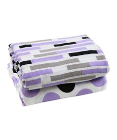 Look at this juDanzy 45'' x 45'' Midnight Lilac Muslin Swaddle Blanket - Set of Two on #zulily today!