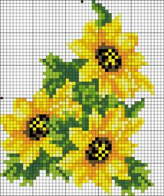 Sunflower cross stitch.