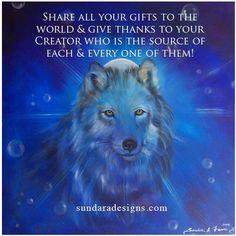 Sundara Fawn creator of Reawakening the Soul, an innovative self-empowerment program designed to manifest a spiritual awakening. Spiritual Love, Spiritual Wisdom, Spiritual Inspiration, Spiritual Awakening, Wolf Spirit, Spirit Animal, Some Good Quotes, Universe Love, Intuitive Empath