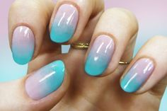 TRANSITION MANICURE- SPRING TO SUMMER/Gradient nails by Madeline Poole, represented by Nailing Hollywood